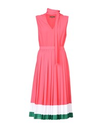 Space Style Concept 3 4 Length Dresses Fuchsia