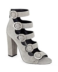 Kendall And Kylie Evie Strappy Peep Toe Sandals Gray