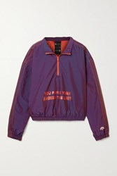 Adidas By Alexander Wang Originals Oversized Embroidered Printed Shell Track Jacket Dark Purple