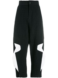 Chalayan Cropped Trousers Black