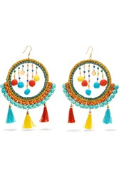 Rosantica Merida Embellished Earrings Green Blue