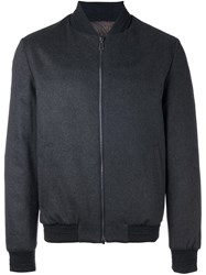 Etro Zip Up Padded Jacket Grey
