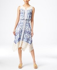 Styleandco. Style And Co. Petite Printed Handkerchief Hem Dress Only At Macy's Summer Shore