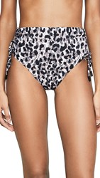 Red Carter Ruched Bikini Bottoms Natural