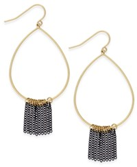 Inc International Concepts Gold Tone Fringe Teardrop Hoop Earrings Only At Macy's