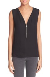 The Kooples Women's Silk And Jersey Tank