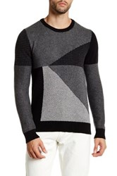 Lands' End Patch Wool Sweater Gray