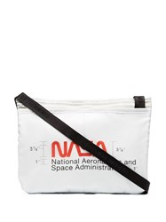 Heron Preston Nasa Print Cross Body Bag White