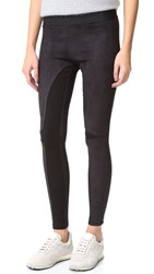 David Lerner Micro Suede Combo Leggings Classic Black