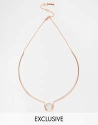 Whistles Whistle Exclusive Rose Gold Howlite Slim Choker Rosegold