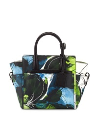 Reed Krakoff Floral Atlantique Mini Nylon Tote Bag Neon Navy Multicolor