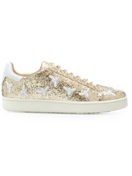 Moa Master Of Arts Glitter Lace Up Sneakers Metallic