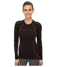 Spyder Olympian Long Sleeve Top Black Bryte Pink Women's T Shirt