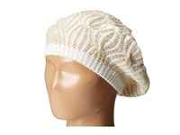 Calvin Klein Shaker Stitch Cable Beret Cr Me Knit Hats Beige