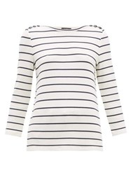A.P.C. Myrtille Breton Striped Top Navy White