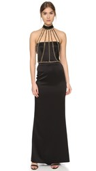 Moschino Halter Gown Black