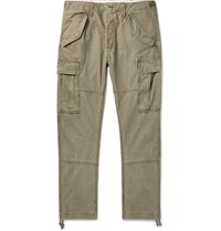 Polo Ralph Lauren Tapered Washed Cotton Cargo Trousers Green