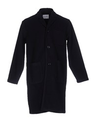 Camo Overcoats Dark Blue