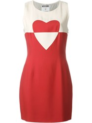 Moschino Vintage Sleeveless Heart Dress Red