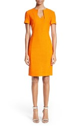 St. John Women's Collection Ribbon Texture Knit Dress