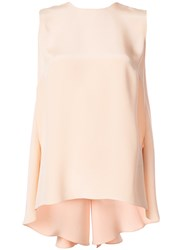 Adam By Adam Lippes Knot Back Tank Top Pink And Purple