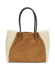 Ugg Heritage Shearling Tote Brown