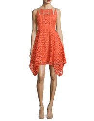 Free People Just Like Honey Lace Midi Dress Red