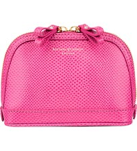 Aspinal Of London Hepburn Small Leather Cosmetics Case Pink