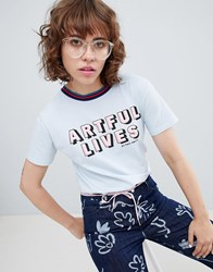 Paul Smith Ps By Artful Lives T Shirt Light Blue