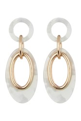 Vince Camuto Resin Link Double Drop Earrings Gold 01
