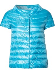 Herno Glossy Quilted Jacket Blue