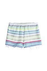 Lemlem Striped Cotton Shorts Blue
