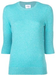 Barrie Short Sleeve Fitted Sweater Blue