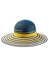 Missoni Mare Woven Hat With Grosgrain Band Multicolor