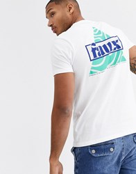 Friend Or Faux Layout Back Print Graphic T Shirt White
