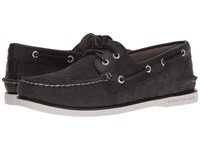 Sperry Gold A O 2 Eye Camino Black Men's Moccasin Shoes
