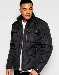 Ringspun Jacket Sermon Jacket With Quilted Panels Black