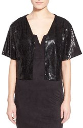 Women's Collection Xiix Sequin Shrug Black Black