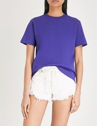 Moandco. Damn Young Cotton Jersey T Shirt Aster Purple