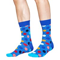 Happy Socks Big Dot One Size Blue Melange