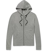 James Perse Loopback Supima Cotton Jersey Zip Up Hoodie Gray