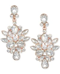 Jewel Badgley Mischka Rose Gold Tone Crystal Chandelier Earrings