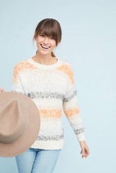 Meadow Rue Kennedy Striped Pullover Ivory