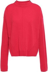Duffy Woman Zip Detailed Wool And Cashmere Blend Sweater Red