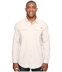 Columbia Silver Ridge Lite Long Sleeve Shirt Extended Fossil Men's Long Sleeve Button Up Beige