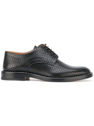 Maison Martin Margiela Perforated Derby Shoes Black