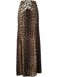 Boutique Moschino Leopard Print Skirt Brown
