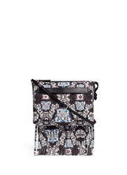Msgm Ivy Print Quilted Suede Clutch