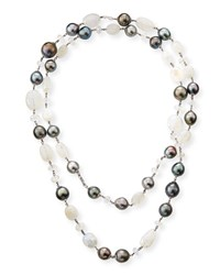 Belpearl 18K Moonstone And Pearl Necklace