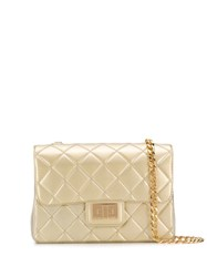 Designinverso Milano Quilted Crossbody Bag Gold